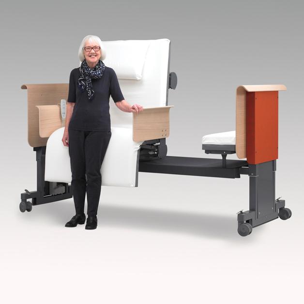 Roto zorgbed met volledig automatische rotatie